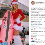 クリスマスのウェイクサーフィン