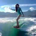 股下111cm!驚異のスタイルを持つウェイクサーフィン界の女神!
